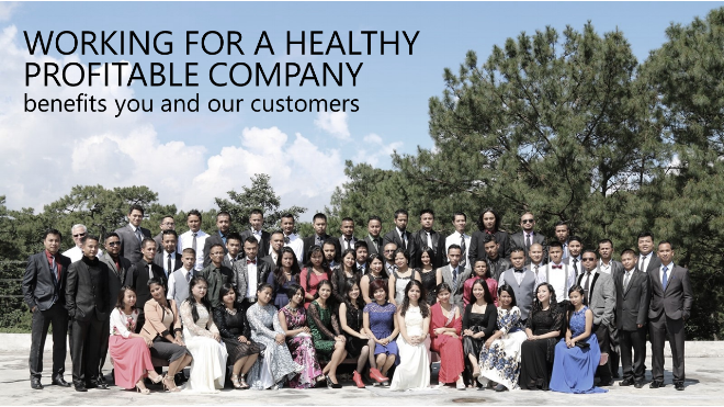 Working for a healthy profitable company benefits our customers -purposeful work