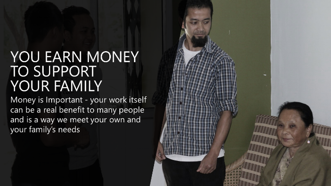 work helps you meet your family's needs - purposeful work at Chillibreeze