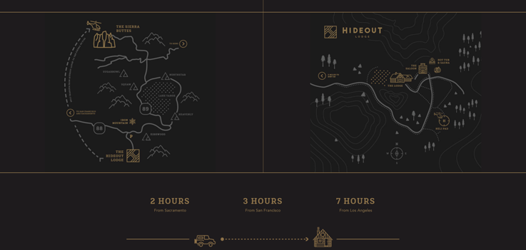 Hideout Lodge home page