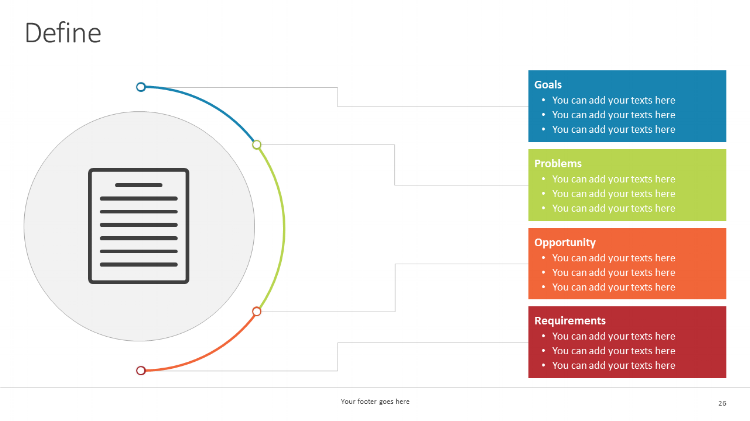 Define Visualizing problem-solving in your PowerPoint presentations
