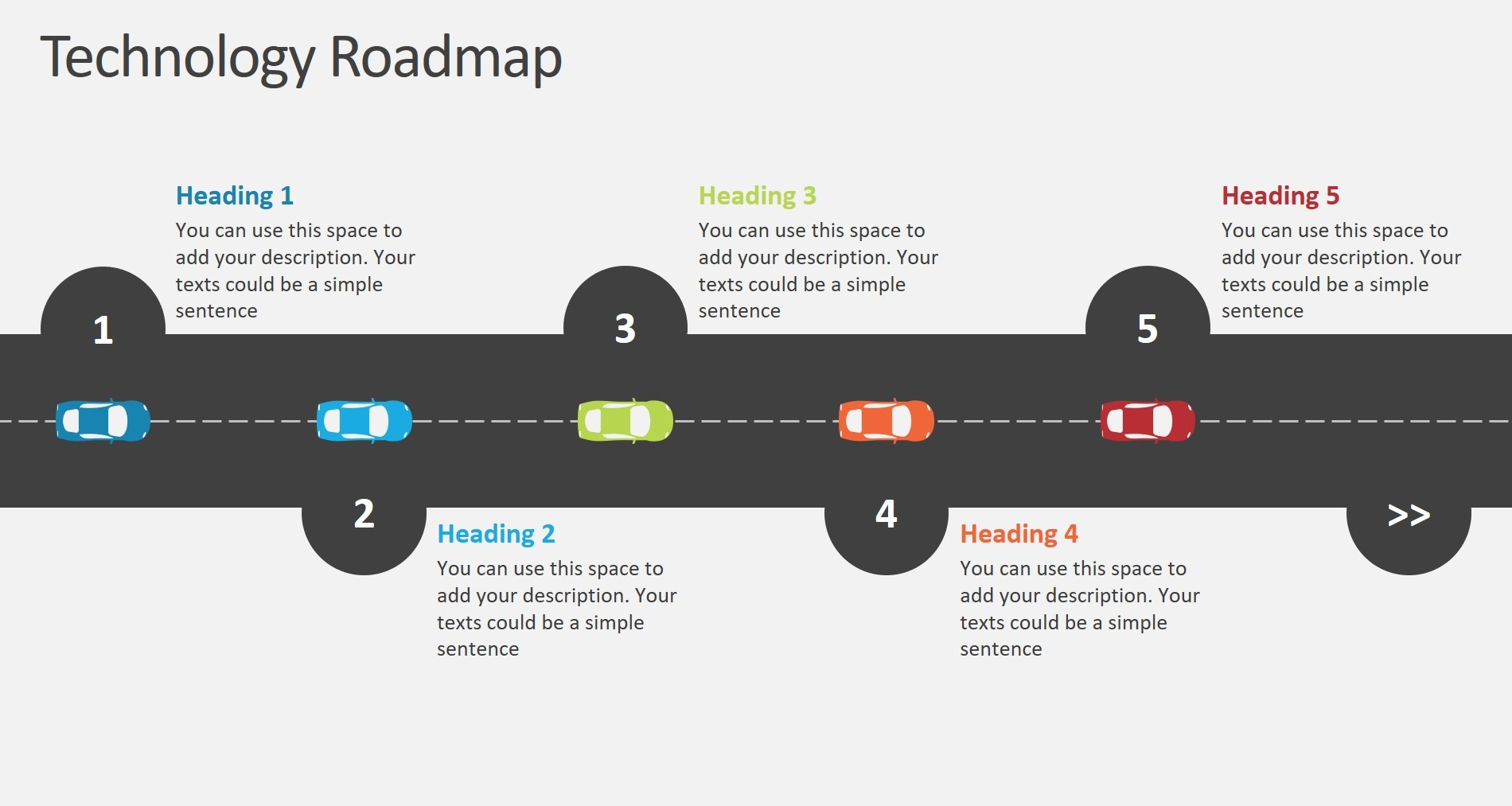 Effective Ways To Use Roadmap Analogy In PowerPoint - Research roadmap template
